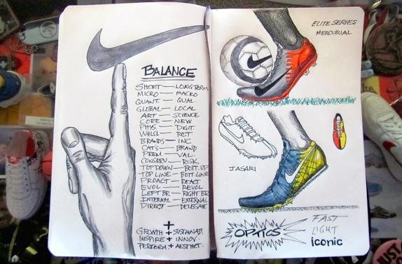 mark parker sketchbook